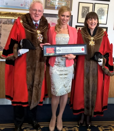 Modesta Viscockiene, event Manager at The Cook & The Butler, awarded Freedom of The City of London, Sept 2015